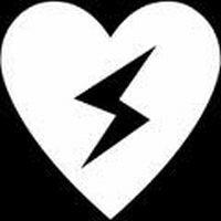 Glitter Tattoo HEART WITH LIGHTNING hart bliksem