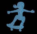Glitter Tattoo SKATER GIRL meisje