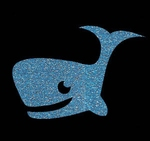 Glitter Tattoo WHALE CUTE walvis lief