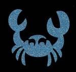 Glitter Tattoo CRAB HAPPY krab