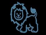 Glitter Tattoo LION CUTE 2 leeuw schattig