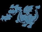 Glitter Tattoo DRAGON draak lief