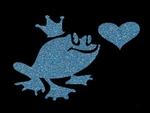 Glitter Tattoo FROG HEART kikker hart