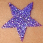 Glitter Iridescent Purple Cool
