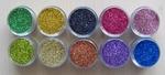 A glitterset 10 kleuren SPECIALE AANBIEDING