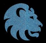 Glitter Tattoo LION HEAD 4 leeuwekop
