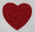 Strijkapplicatie glitterfolie hart