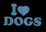 Glitter Tattoo I LOVE DOGS ik houd van honden