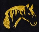 Strijkapplicatie glitterfolie paard