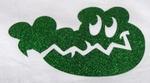 Strijkapplicatie glitterfolie croc
