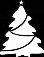 Glitter Tattoo CHRISTMAS TREE 3 kerstboom