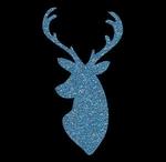 Glitter Tattoo DEER head hert