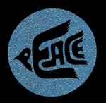 Glitter Tattoo PEACE word vrede