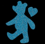 Glitter Tattoo BEAR Walking beer lopend