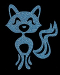 Glitter Tattoo FOX CUTE lieve vos