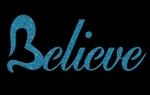 Glitter Tattoo BELIEVE