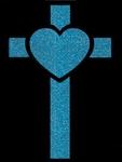 Glitter Tattoo CROSS HEART kruis hart