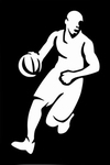 Glitter Tattoo basketball player speler