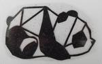 Strijkapplicatie panda origami