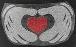 Strijkapplicatie HANDS HEART handen heart