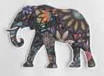 Strijkapplicatie olifant bloemen