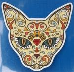 Strijkapplicatie cat sugar skull