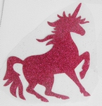 Strijkapplicatie unicorn pink eenhoorn