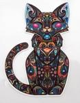 Strijkapplicatie cat colorful
