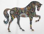 Strijkapplicatie horse colorful paard