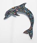Strijkapplicatie dolphin colorful dolfijn