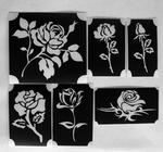 Glitter Tattoo ROSES 1 set van 6 sjablonen