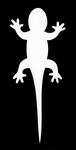 Glitter Tattoo gecko salemander
