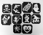 Glitter Tattoo HALLOWEEN set1 van 10 sjablonen