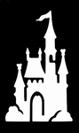 Glitter Tattoo castle kasteel