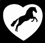 Glitter Tattoo horse in heart paard hart