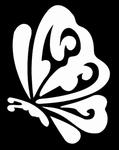 Glitter Tattoo butterfly vlinder