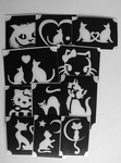 Glitter Tattoo CATS  1 set van 11 sjablonen
