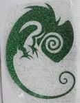 Strijkapplicatie chameleon