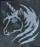 Strijkapplicatie unicorn eenhoorn