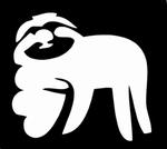 Glitter Tattoo sloth heart luiaard hart