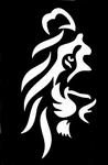 Glitter Tattoo lion leeuw hoofd