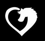 Glitter Tattoo horse heart paard hart