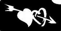 Glitter Tattoo HEARTS DU harten pijl