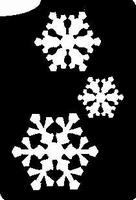 Glitter Tattoo SNOWFLAKES sneeuwvlokken