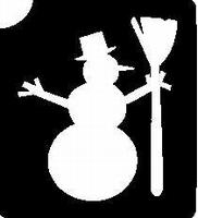 Glitter Tattoo SNOWMAN 2 Sneeuwpop