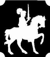 Glitter Tattoo KNIGHT ridder op paard