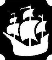 GlitterTattoo PIRATE SHIP piratenschip
