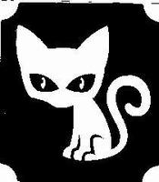 GlitterTattoo CAT BLACK kat zwart
