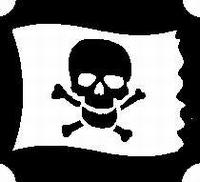 GlitterTattoo PIRATE FLAG piratenvlag