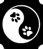 Glitter Tattoo YING YANG PAWS pootafdrukken